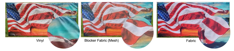 fabric mesh vinyl
