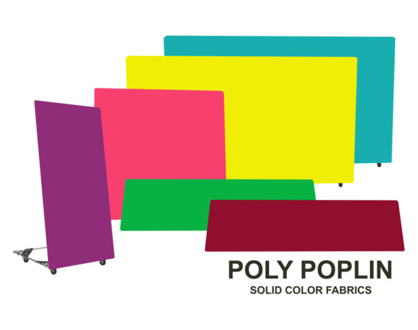poly poplin solid color fabrics